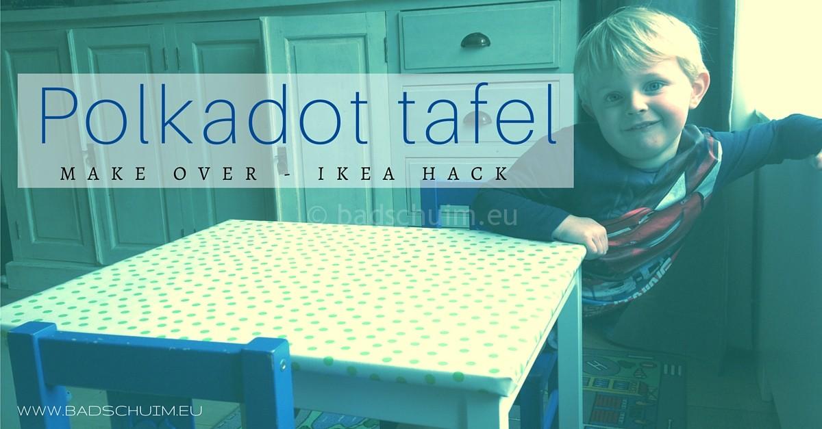 Ikea Hack - polka dot tafel make over I gemaakt door het creatief lifestyle blog Badschuim