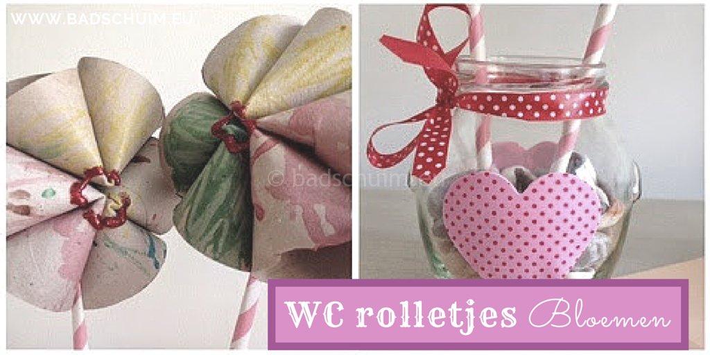 WC rolletjes bloemen een simpele DIY met stappenplan I gemaakt door het Creatief Lifestyle blog Badschuim