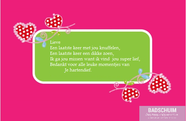 Afscheid versje KDV I Creatief lifestyle blog badschuim