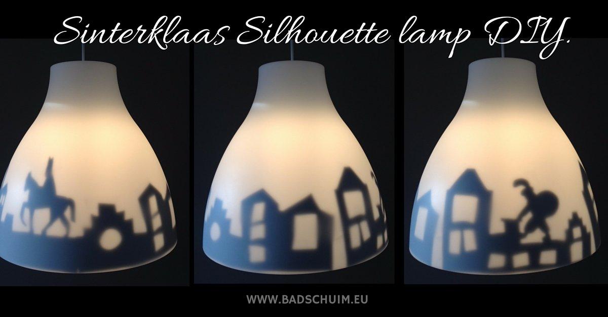 Sinterklaas Silhouette lamp DIY - stappenplan te vinden op www.badschuim.eu