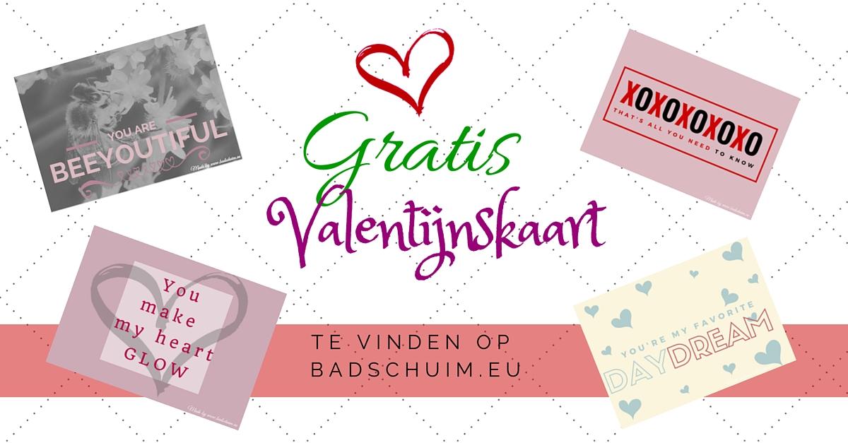 Gratis valentijnskaart printen - gemaakt door het creatief lifestyle blog www.badschuim.eu