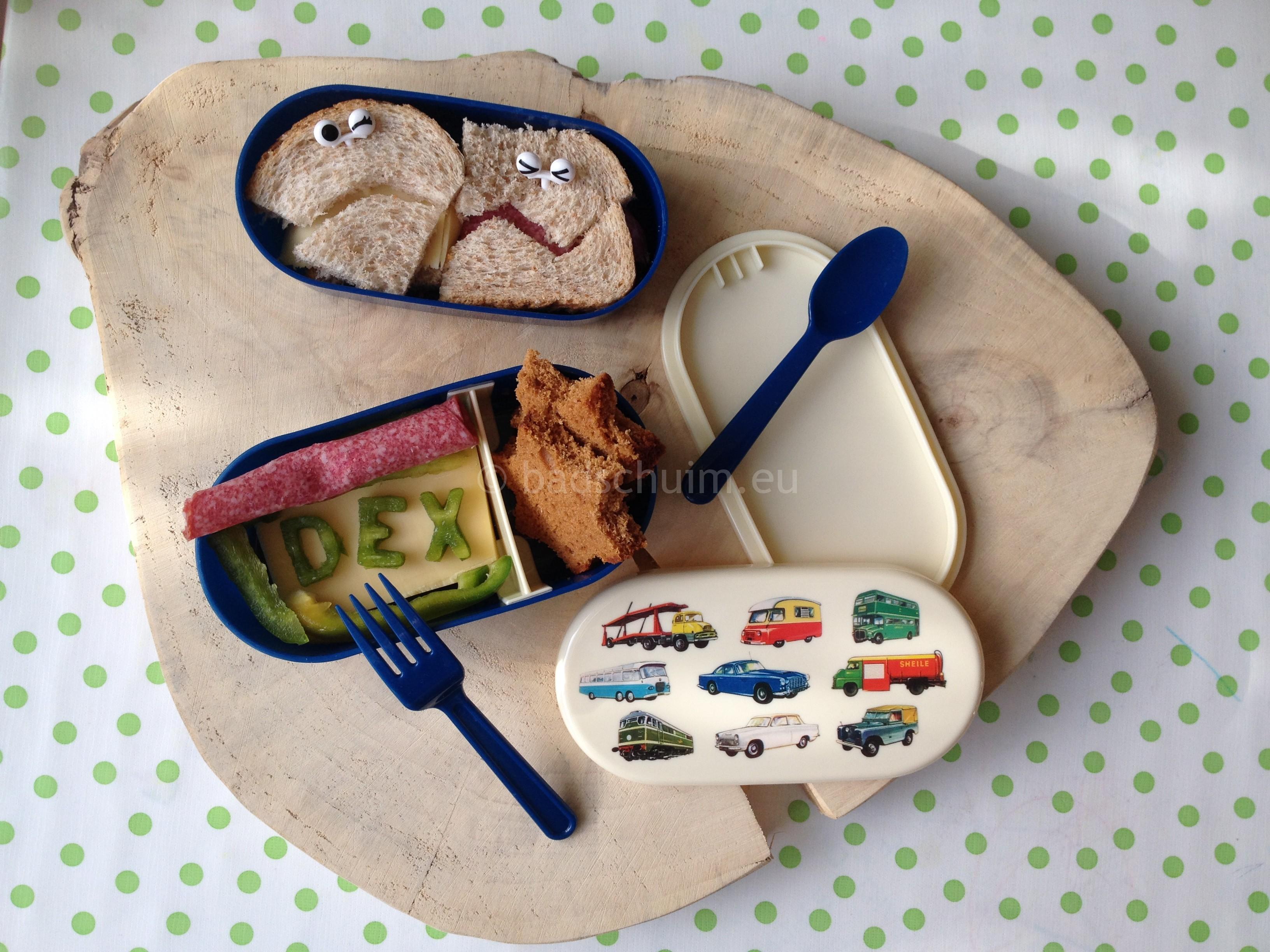 Broodtrommel ideeen met een bento lunchbox