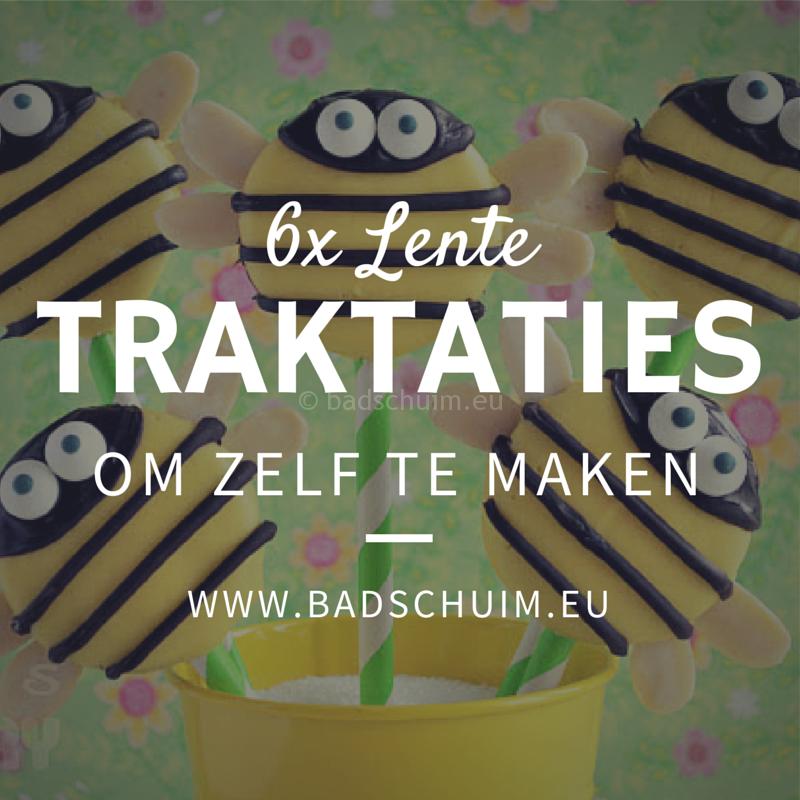 Lente traktaties met bloemen en bijtjes