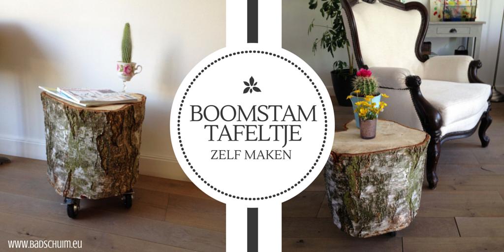Boomstam tafeltje zelf maken I Creatief Lifestyle blog Badschuim