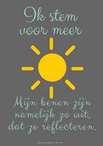 Poster Meer Zon gemaakt door creatief lifestyleblog Badschuim