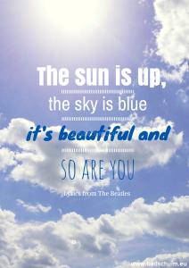 Quote Sun I Creatief Lifestyle blog Badschuim