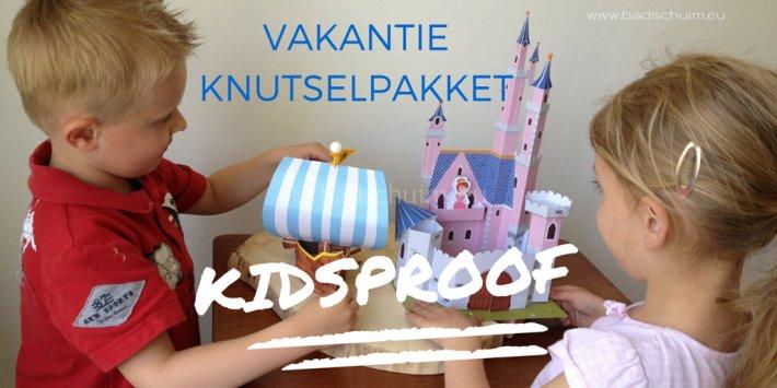 Vakantie knutselpakket pritt, kidsproof I Creatief lifestyle blog badschuim