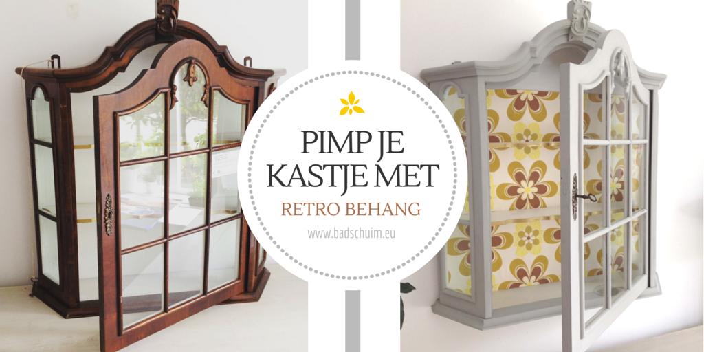 Pimp je kastje met behang I DIY metamorfose met stappenplan I gemaakt door creatief lifestyle blog Badschuim