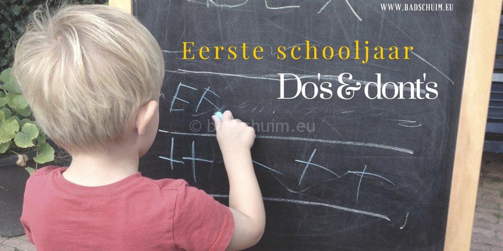 Eerste jaar basisschool, DO's en DONT's I Creatief lifestyle bog Badschuim