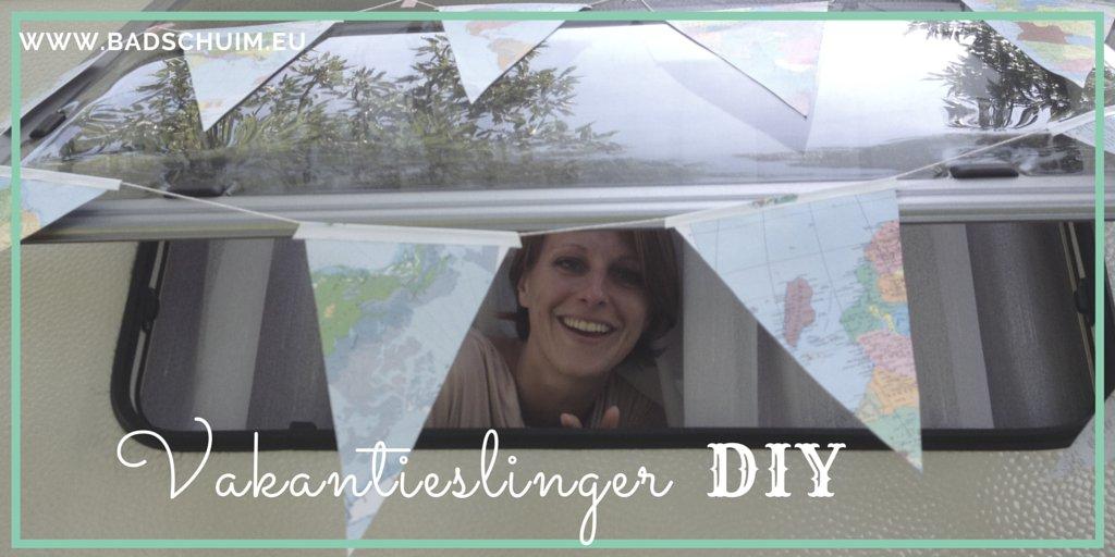 Vakantie slingers DIY zelf maken I creatief lifestyle blog Badschuim