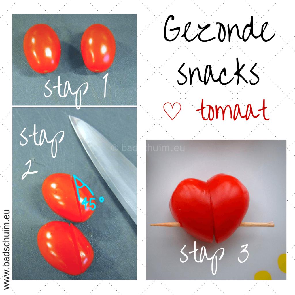 Broodtrommel tips wk 6 - gezonde snacks hartjes tomaat I gemaakt door het creatief lifestyle blog Badschuim