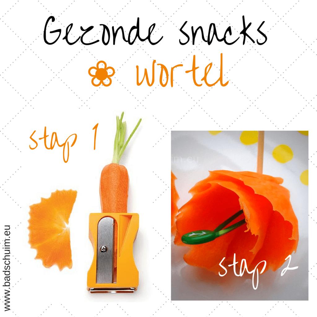 Broodtrommel tips wk 6 - gezonde snacks wortel bloem I gemaakt door het creatief lifestyle blog Badschuim