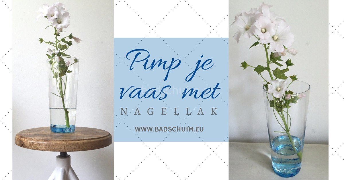 Pimp je vaas met nagellak_DIY stappenplan I creatief lifestyle blog Badschuim