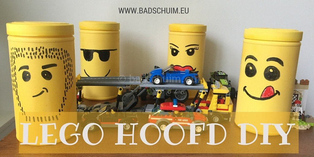 LEGO hoofd DIY I stappenplan gemaakt door het creatief lifetstyle blog Badschuim