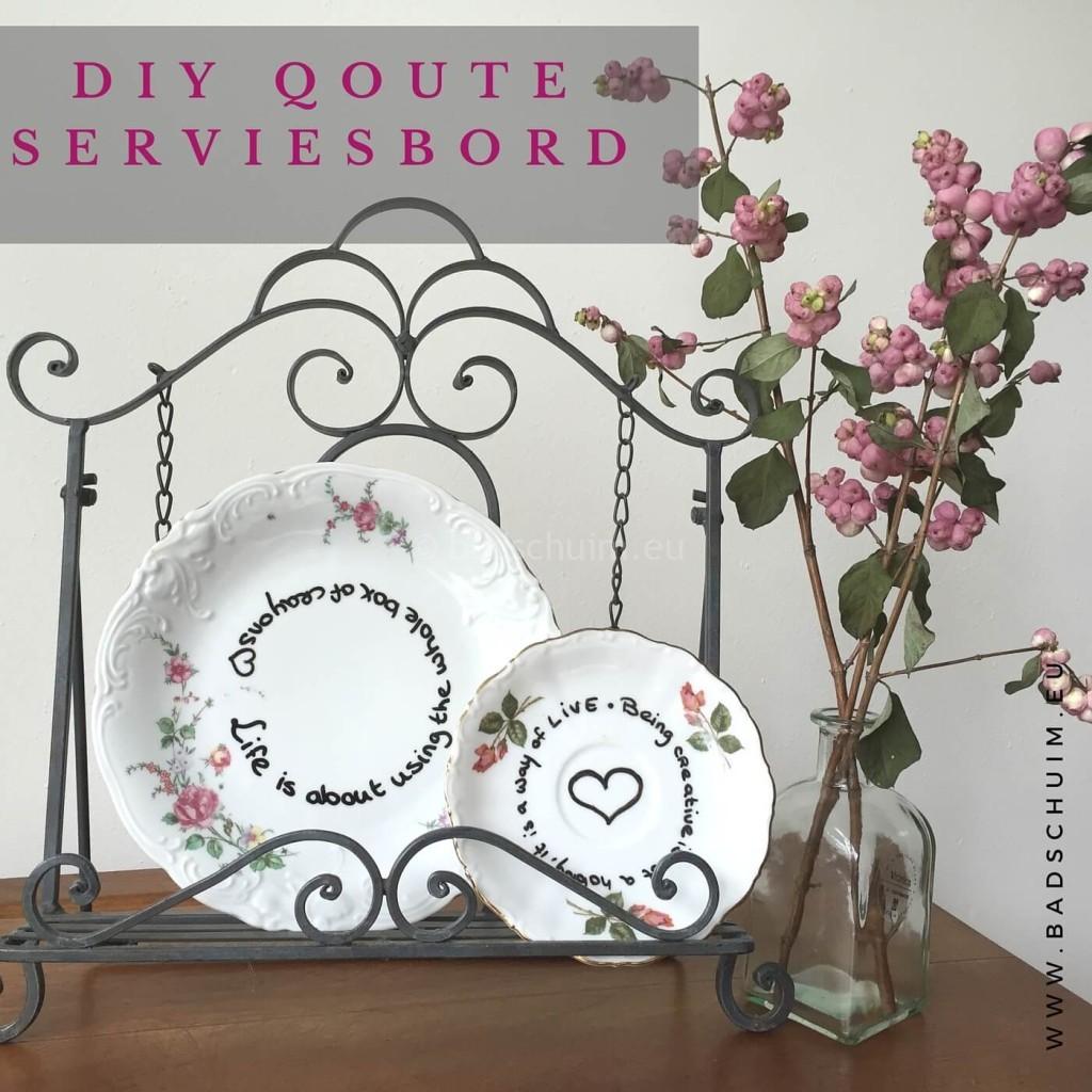 DIY Quote servies bord I resultaat I gemaakt door het creatief lifestyle blog