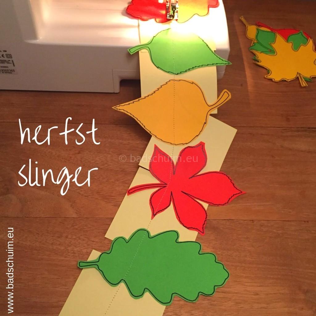 Herfstslinger maken met papier I stap 04 I gemaakt door het creatief lifestyle blog Badschuim