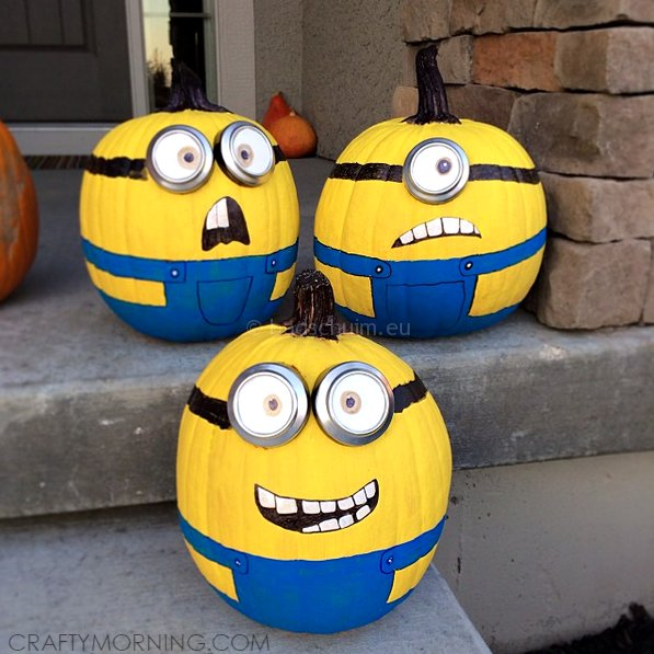 Knutselen Halloween - minions pompoens I te vinden op het creatief lifestyle blog Badschuim
