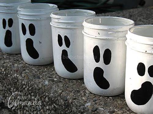 Knutselen Halloween - spook lantaarns I te vinden op het creatief lifestyle blog Badschuim