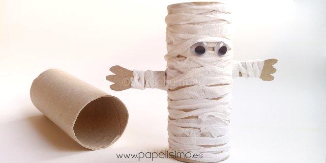 Knutselen Halloween - wc rolletjes mummy I te vinden op het creatief lifestyle blog Badschuim