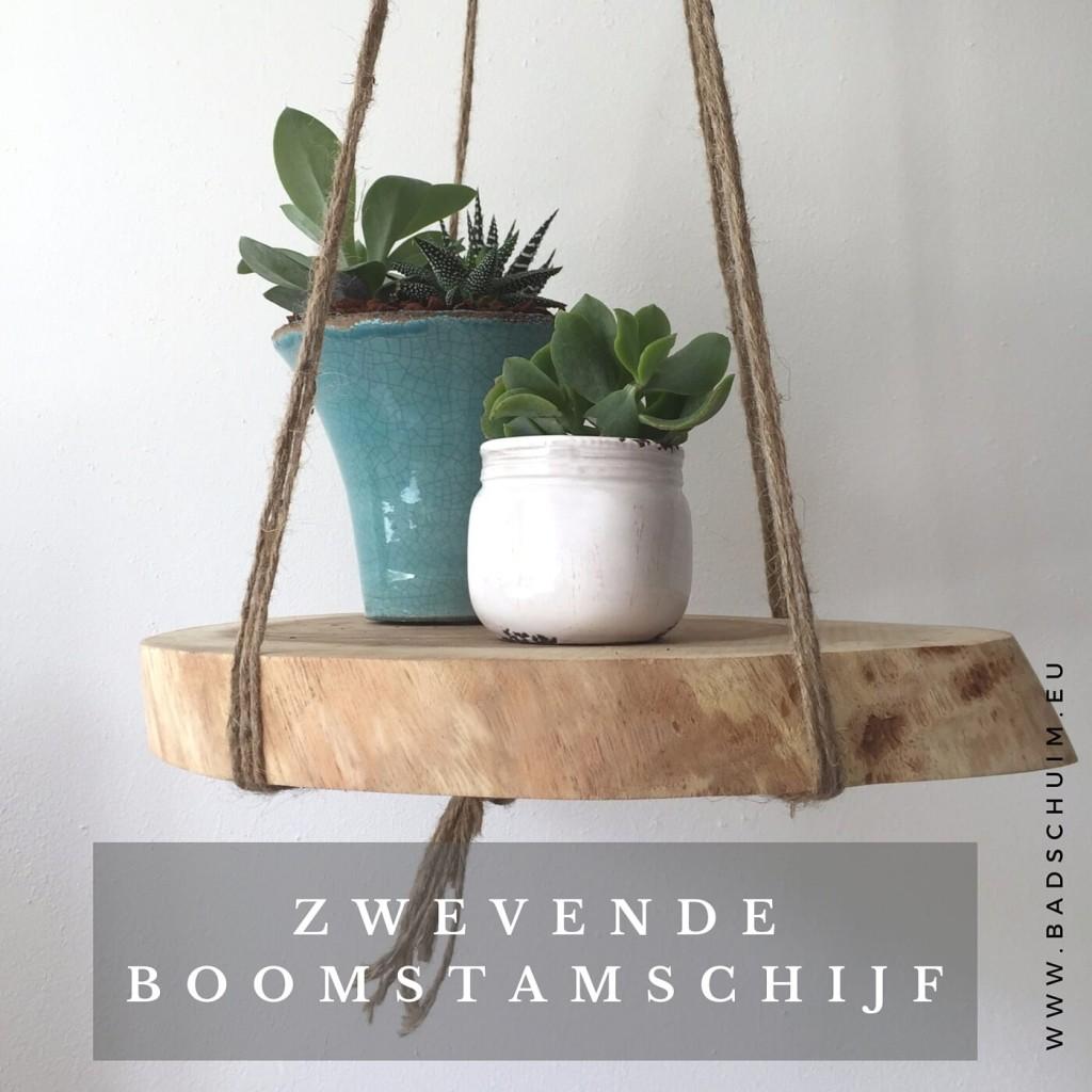 zwevende boomstam schijf I gemaakt door het creatief lifestyle blog Badschuim