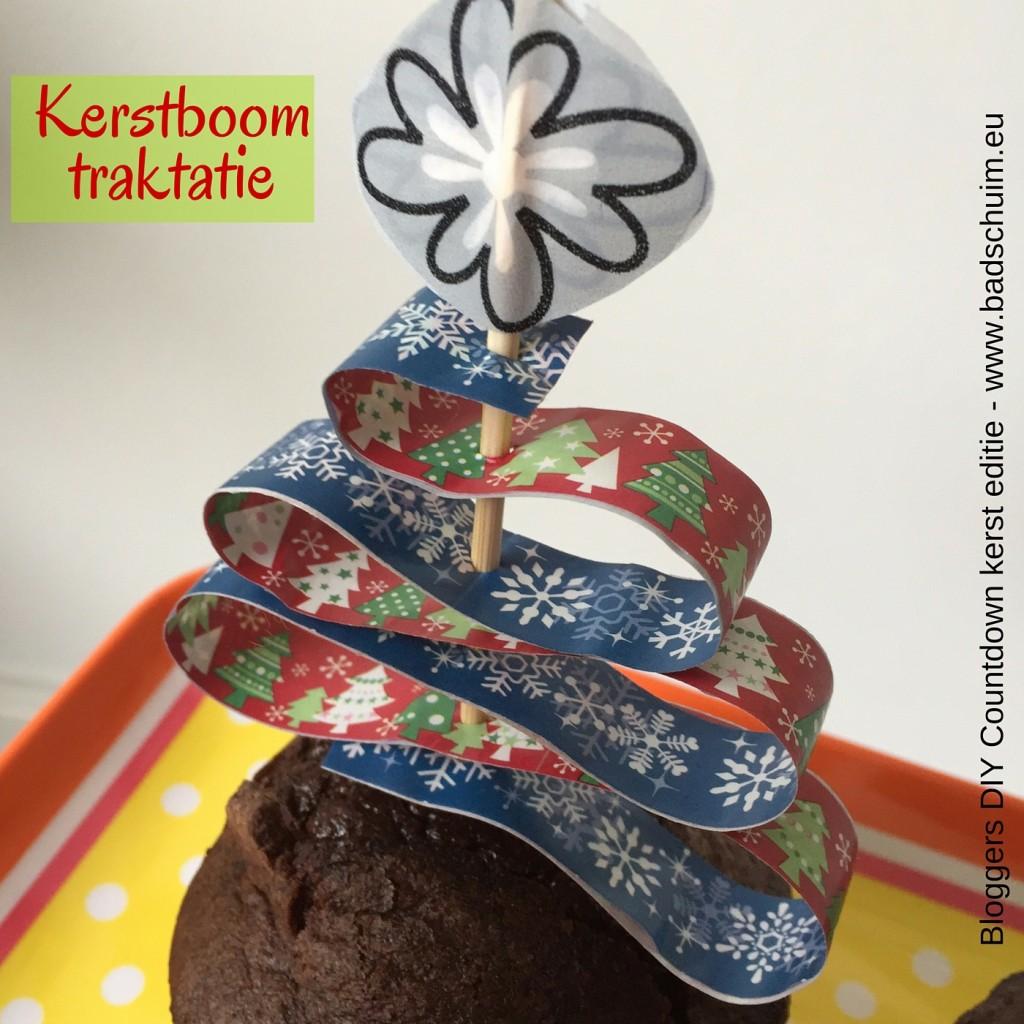 Kerstboom traktatie zelf maken - hier vind je het stappenplan - gemaakt door het creatief lifestyle blog www.badschuim.eu