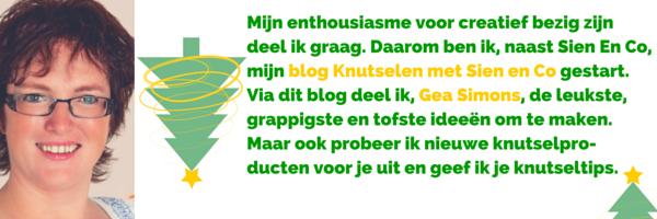 DIY Bloggers Countdown kerst editie - Gea van blog Knutselen met Sien en Co