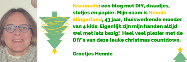 DIY Bloggers Countdown kerst editie - Hennie Slingerland van blog Kreamade