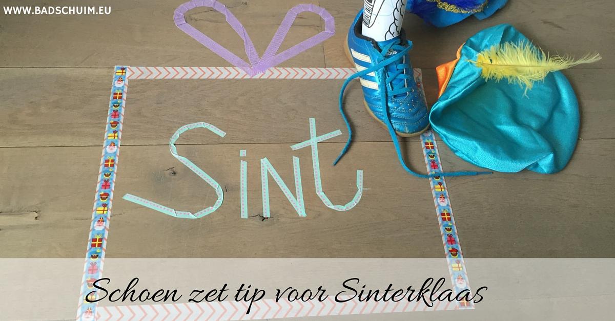Schoen zet tip voor Sinterklaas - hier vind je het stappenplan met foto's - gemaakt door het creatief lifestyle blog www.badschuim.eu
