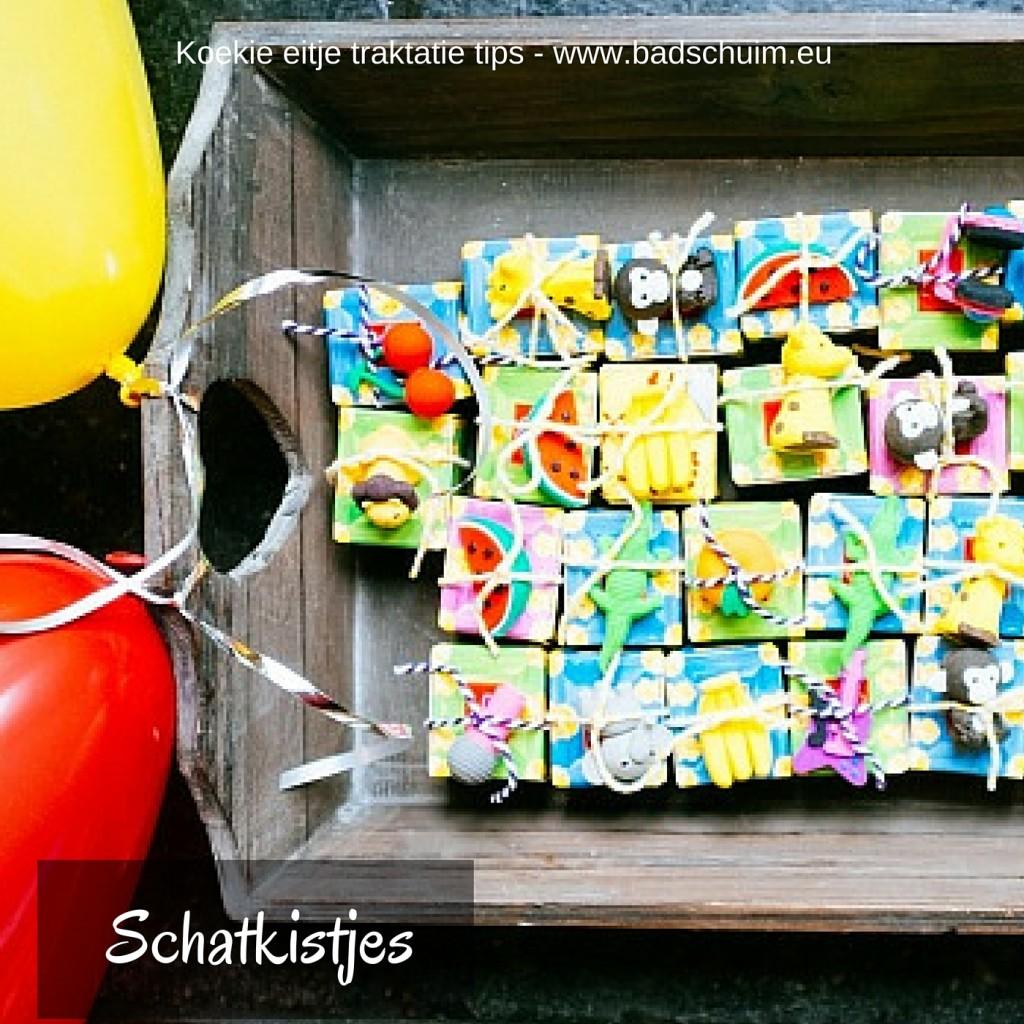 schatkistjes traktatie - Koekie eitje traktatie tips I gemaakt door het creatief lifestyle blog Badschuim