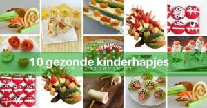 10 gezonde kinderhapjes - te vinden op het creatief lifestyle blog www.badschuim.eu