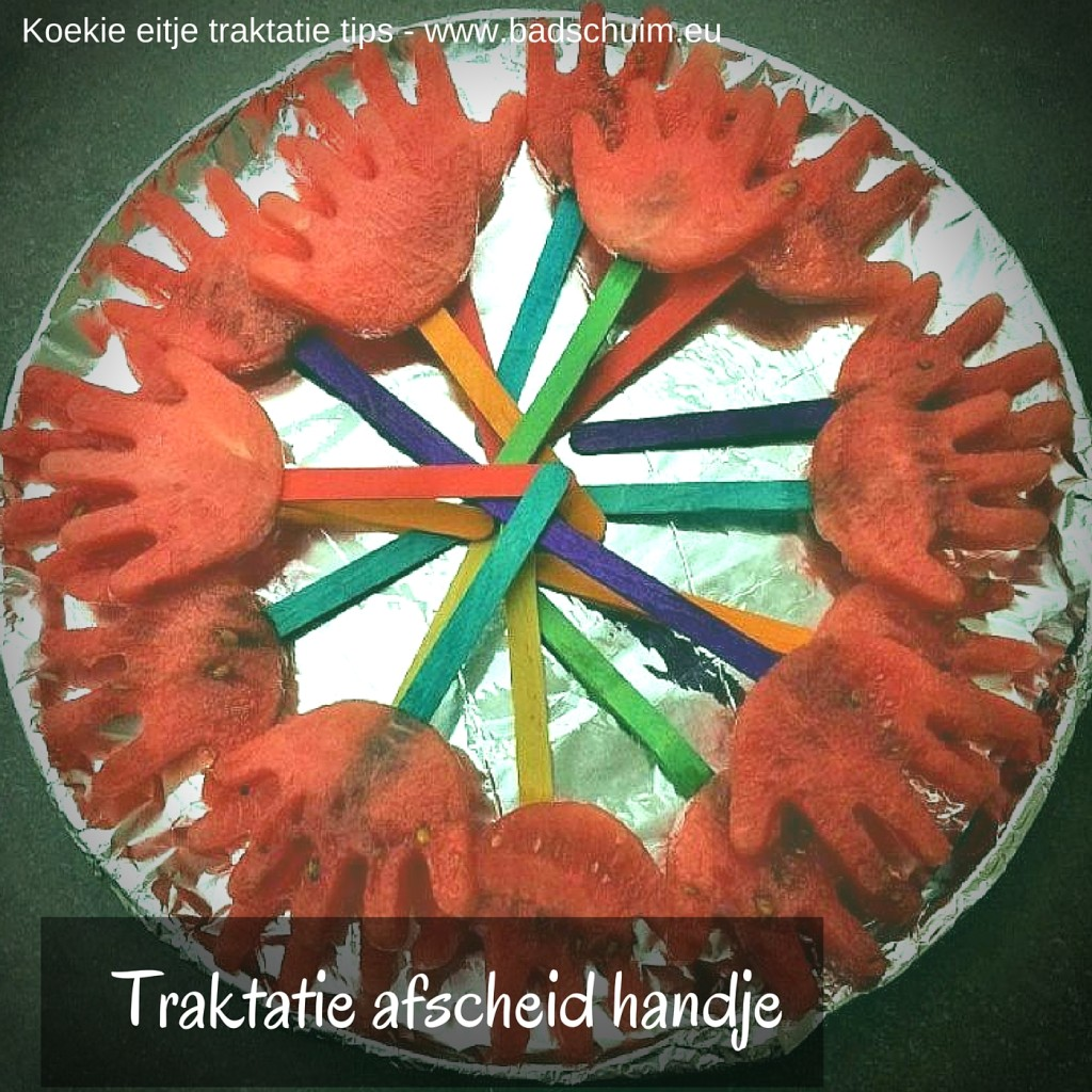 Afscheid handjes traktatie - Koekie eitje traktatie tips I te vinden op creatief lifestyle blog Badschuim