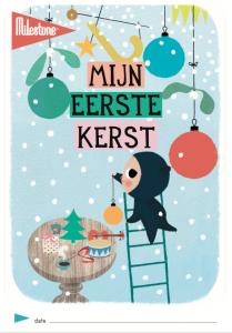 Milestone cards_mijn eerste kerst_gratis printable bij het blog badaschuim
