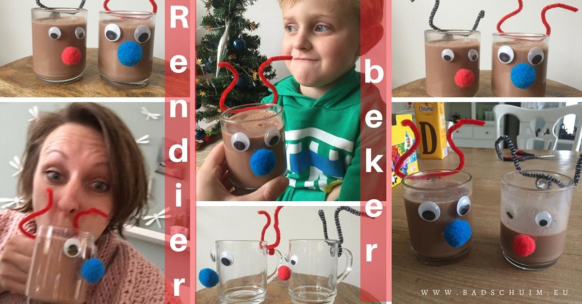 Rendier beker zelf maken - gemaakt door het creatief lifestyle blog www.badschuim.eu
