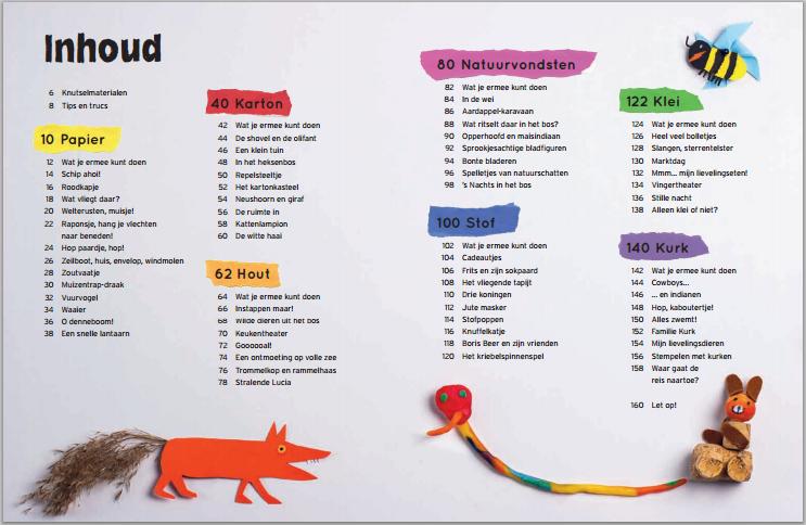 het grote knutsel- en speelboek _voorbeeld bladzijde inhoudspagina