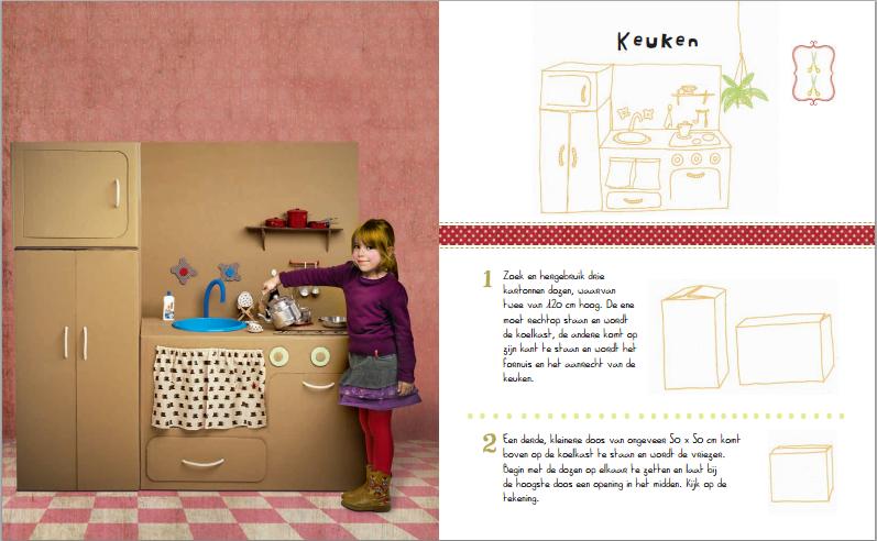 van karton boek _voorbeeld pagina keukentje