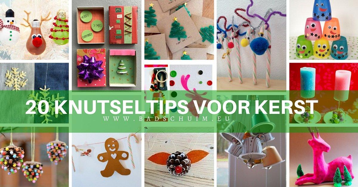 20 knutseltips voor kerst - te vinden op het creatief lifestyle blog www.badschuim.eu