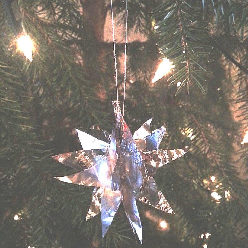 knutselen voor kerst - 3d sterhanger