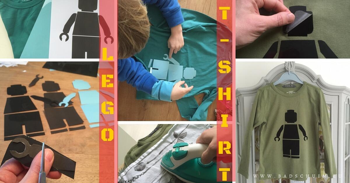 Is jouw kind ook LEGO fan? Maak dan dit leuke LEGO T-shirt van strijkvelours met dit DIY stappenplan.