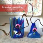 Maak van een lege schoonmaakfles een monster pennenbak! Simpel, leuk & goed door de kids te maken met dit DIY foto stappenplan. Eindelijk een leuke opbergplek voor je stiften!