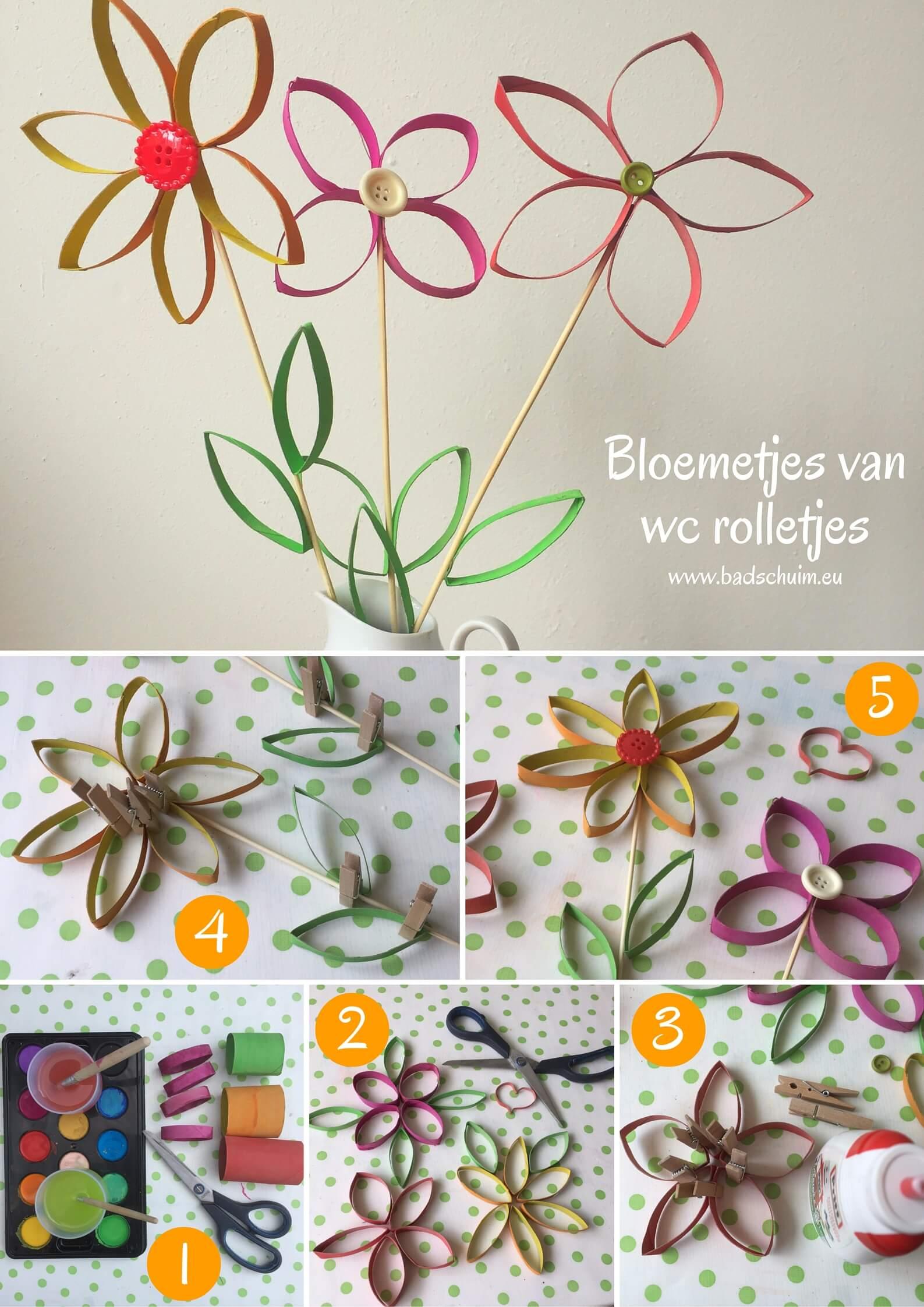 Geef eens bloemetjes van wc rolletjes cadeau. Simpel te maken (ook met kids) met dit DIY foto stappenplan. Eigenlijk zo leuk dat je ze zelf wilt houden! Wc rolletjes bloem, wc rol bloem, bloem van een wc rol, bloem knutselen van een wc rol, knutselen met wc rolletjes,