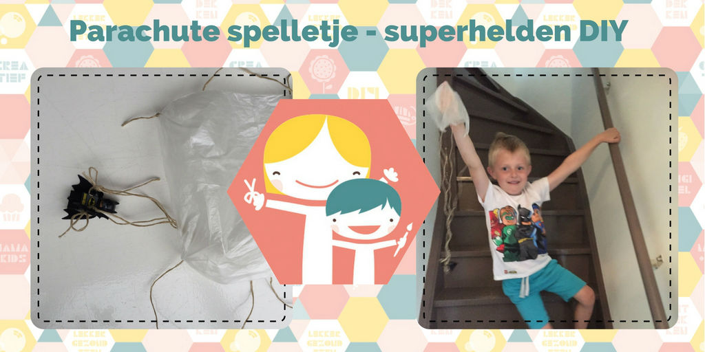 Parachute spelletje - superhelden DIY