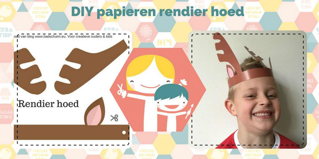 DIY Rendier hoed_ kinder kerst DIY