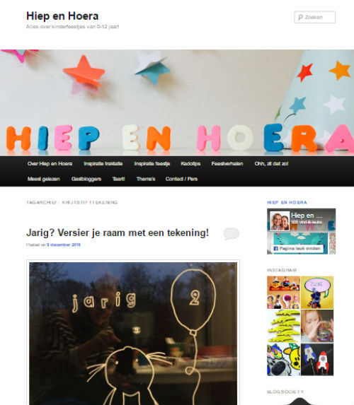 In de media webshop krijtstifttekening Hiep en Hoera - 2016-12-09