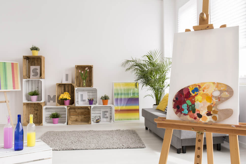 Hobbykamer inrichten als schilderkamer