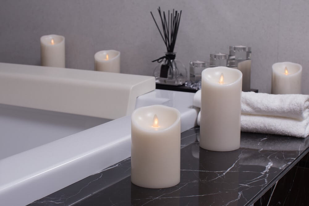 kaarsen bij bad