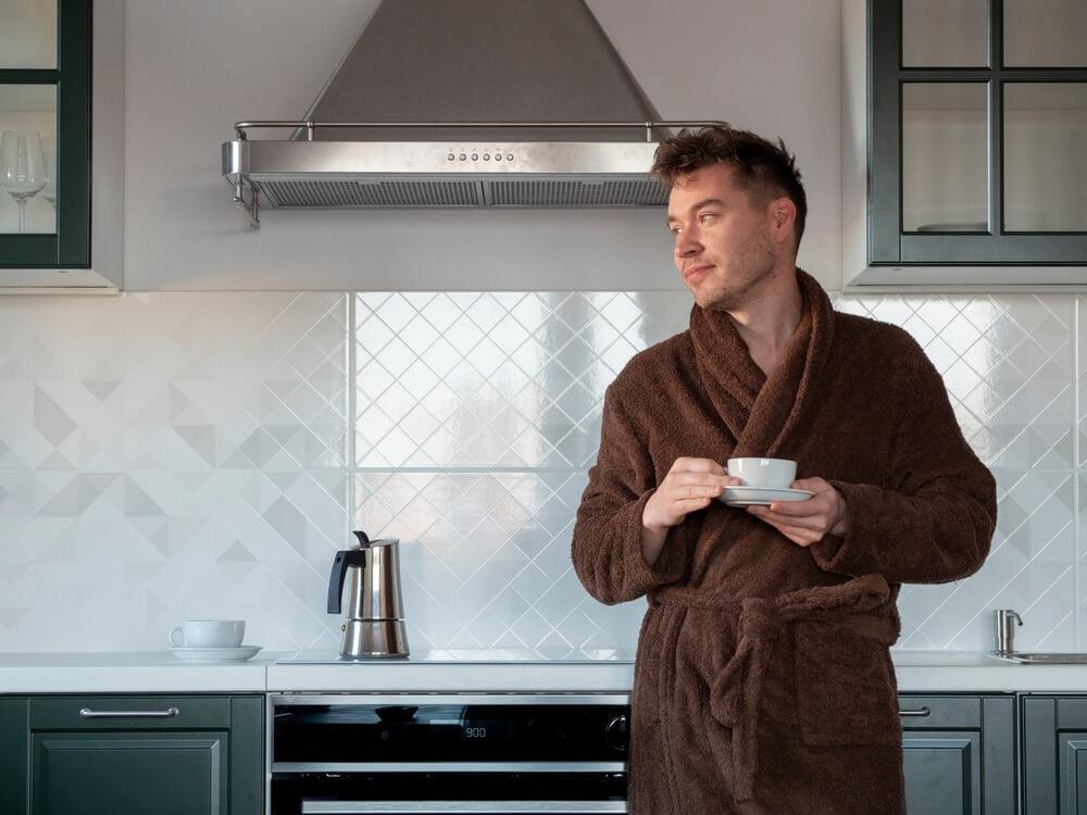 Badstof badjas voor heren