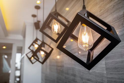Zichtbare lichtbron lampen
